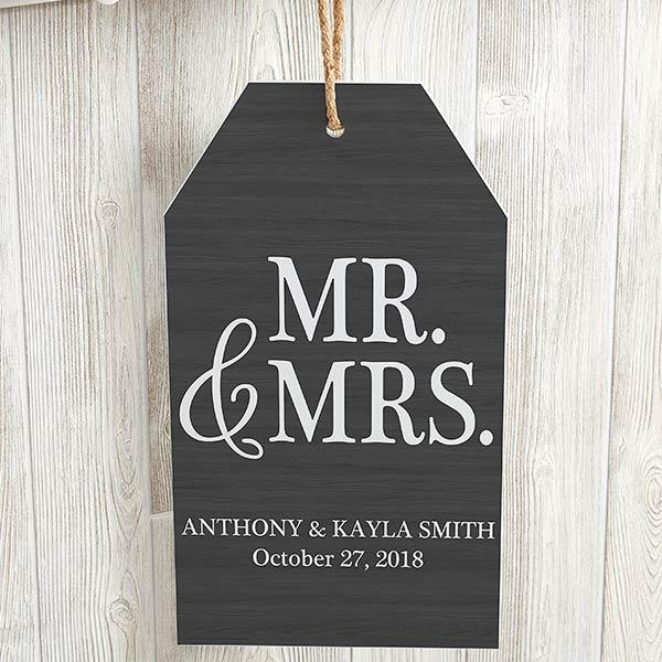 Personalized Wedding Wall Tag - Mr & Mrs - 19188