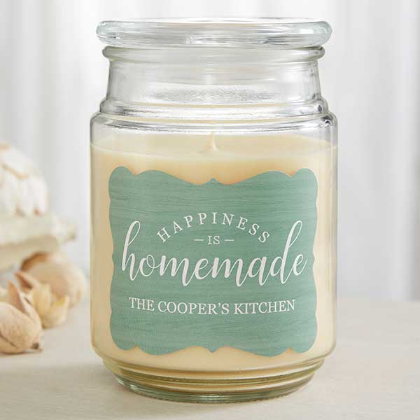 Happiness Is Homemade Personalized Scented Candles - 19201