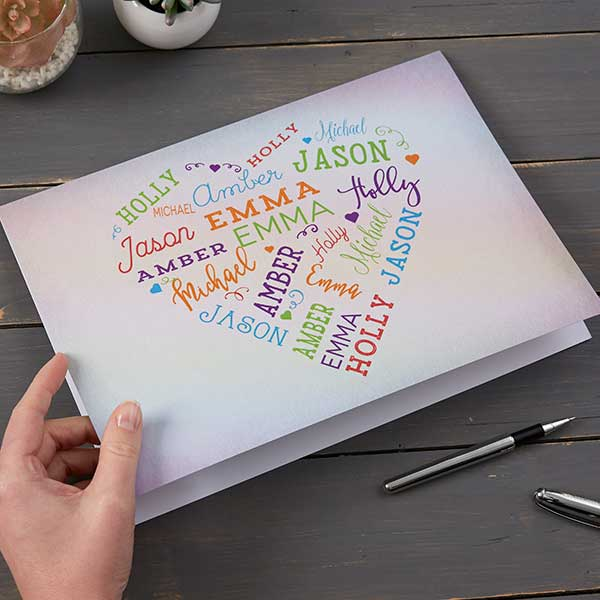 Personalized Oversized Greeting Card - Word Art - 19213