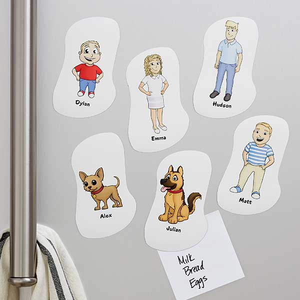 Our Family Characters Personalized Magnets - 19215