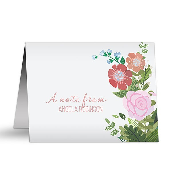 Personalized Note Cards - Modern Botanical - 19216