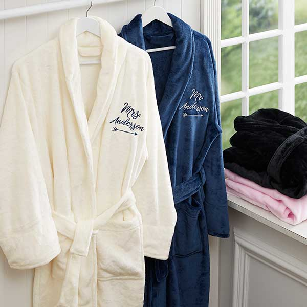 e8d2b60c7d Embroidered Luxury Bathrobe For Her - Wedding Gifts