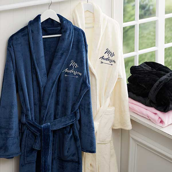 98f279208a Personalized Mr   Mrs Luxury Bathrobes