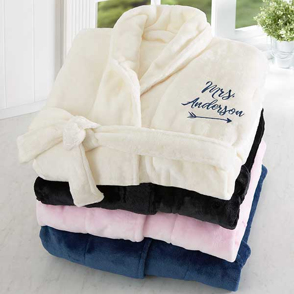 ddd9ed3fba Embroidered Luxury Bathrobe For Her - Wedding Gifts