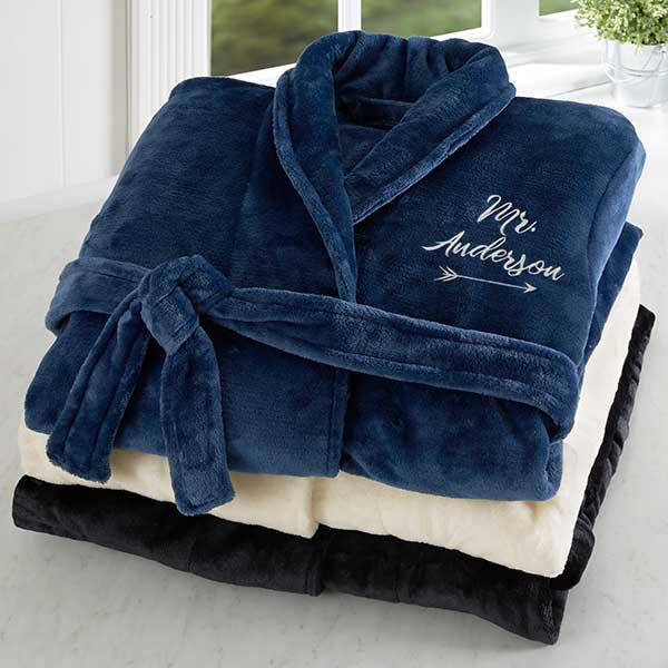 Personalized Mr & Mrs Luxury Bathrobes - 19219