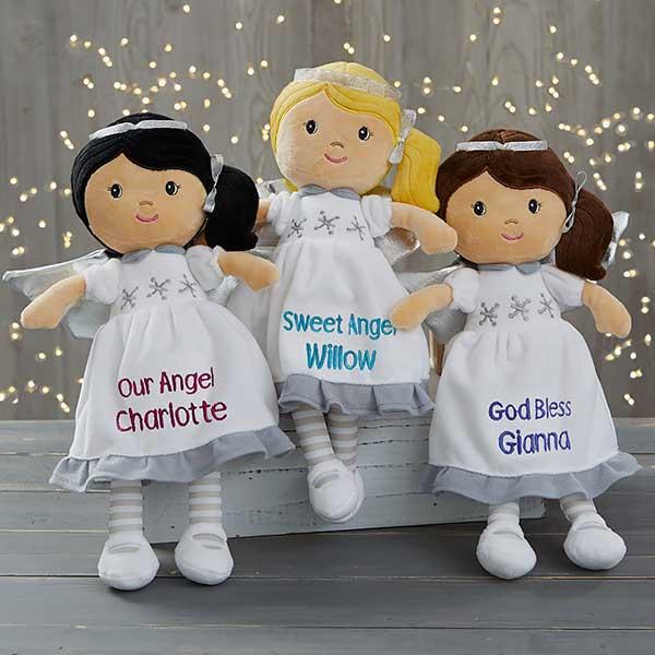 Custom Embroidered Angel Dolls - 19228