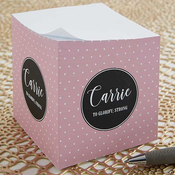 Personalized Sticky Note Cube - Name Meaning - 19231
