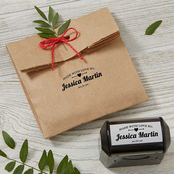 Made With Love Self Inking Personalized Stamp