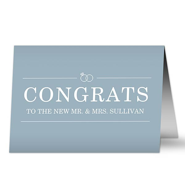 Personalized Wedding Greeting Cards - Congrats - 19241