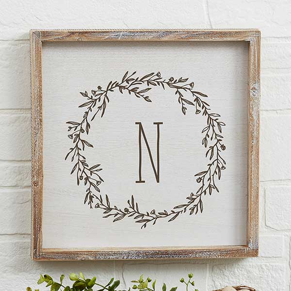 Farmhouse Floral Personalized Framed Wall Art - 19249