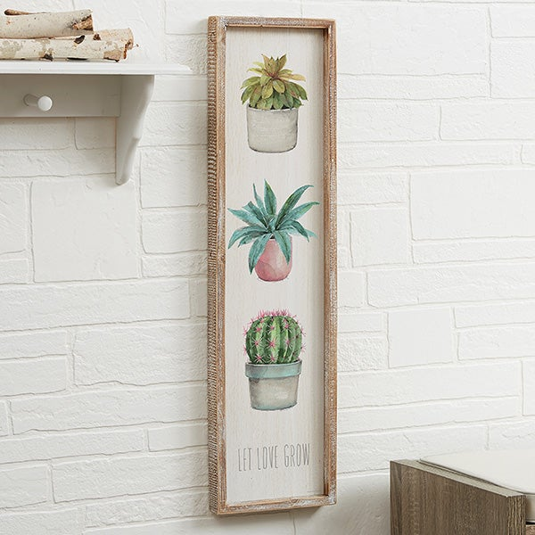 Personalized Cactus & Succulents Wall Art - 19252