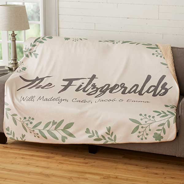 Personalized Sherpa Blankets - Cozy Home - 19267