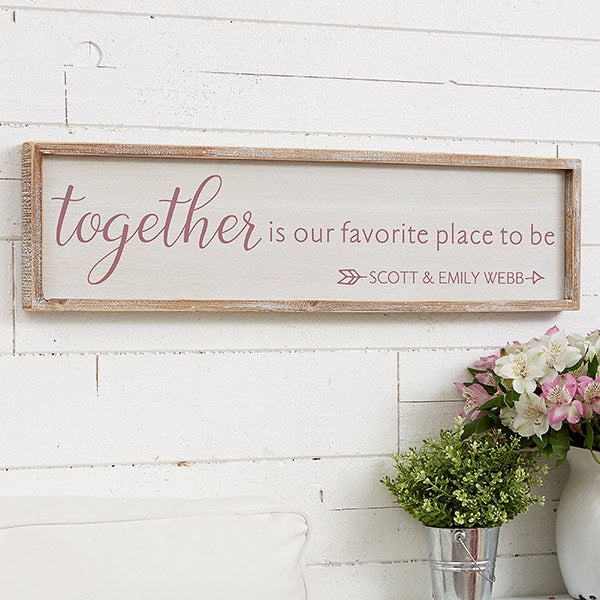Personalized Barnwood Wall Art - Together - 19290