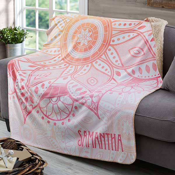 Personalized Sherpa Blankets - Mandala - 19305
