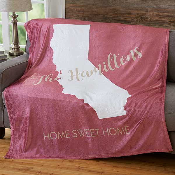 Personalized Fleece Blankets - State Pride - 19308