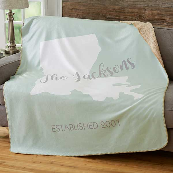 Personalized Sherpa Blanket - State Pride - 19309
