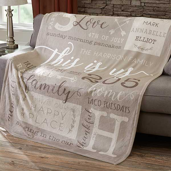 Personalized Fleece Family Blankets - This Is Us - 19310