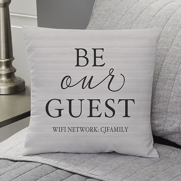 Be Our Guest Personalized Throw Pillows - 19318