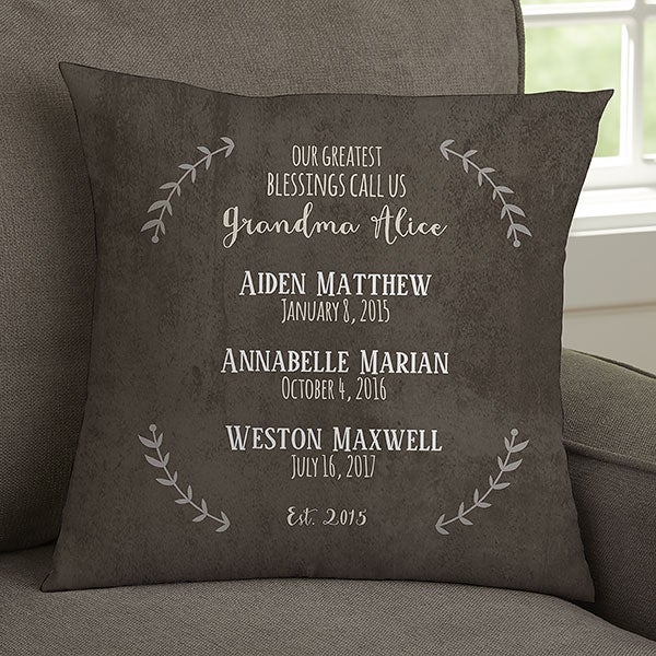 Personalized Grandma Pillow