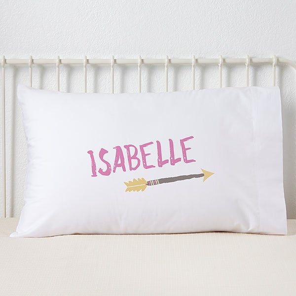 Tribal Arrow Personalized Pillowcase for Girls - 19333