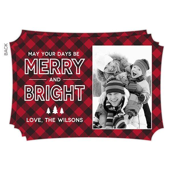 Custom Photo Christmas Cards - Merry & Bright - 19341