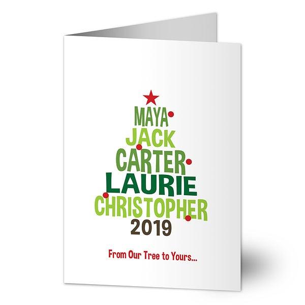 Christmas Family Tree Holiday Card