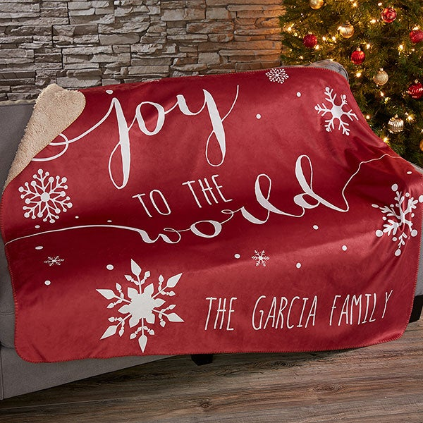 Christmas Blankets.Christmas Quotes Personalized 50x60 Sherpa Blanket