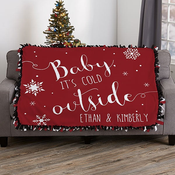 Christmas Blankets.Christmas Quotes Personalized 50x60 Tie Blanket