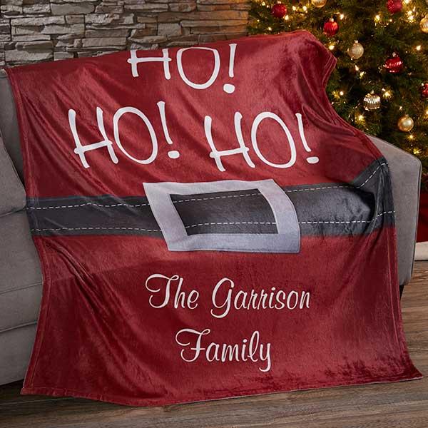 Personalized Fleece Blanket - Santa Belt - 19360