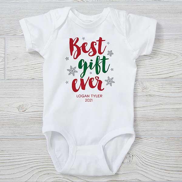 Baby Shower Gift Santa I know Him Newborn Gift Personalized Onesie