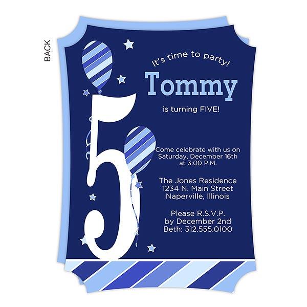 Personalized Birthday Invitation - Birthday Boy - 19400