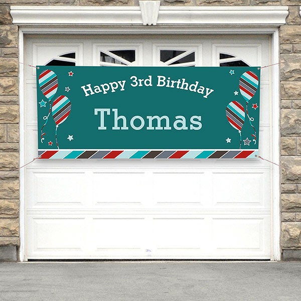 Personalized Birthday Party Banner - Birthday Boy - 19404