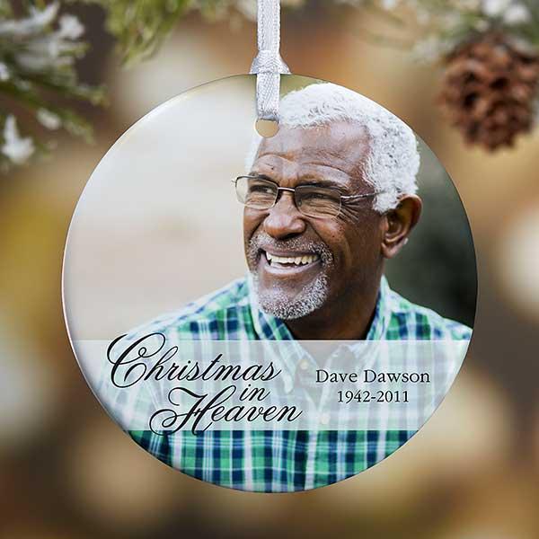 Memorial Photo Ornament - Christmas In Heaven - 19445