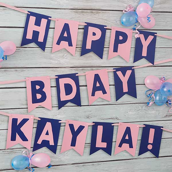 Personalized Birthday Party Bunting Banner