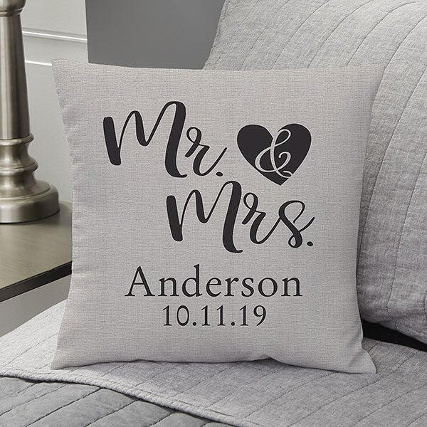 Personalized Throw Pillows - Elegant Couple - 19458