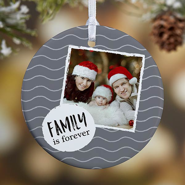 Personalized Christmas Photo Message Ornaments - 19482