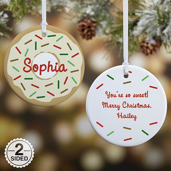 Donut Fun Personalized Christmas Ornaments - 19483