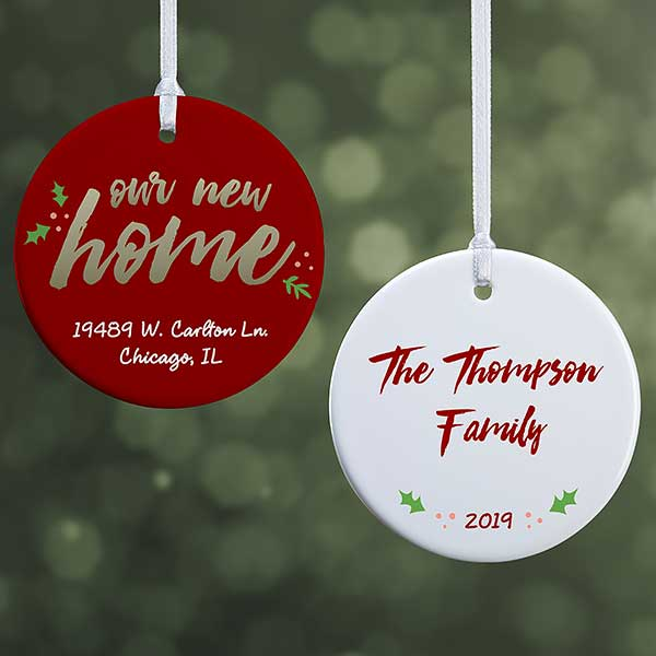 Personalized Ornament Our New Home Christmas Clearance