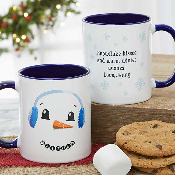 Personalized Christmas Mugs - Snowman Characters - 19489
