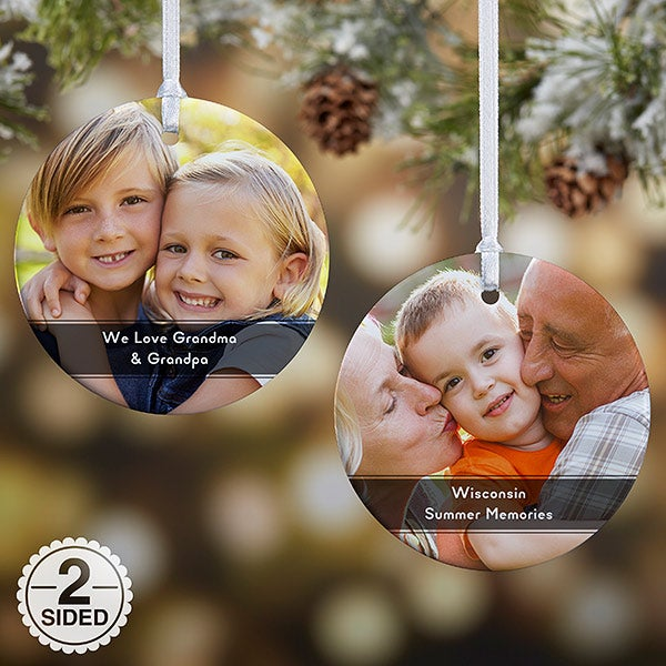 Personalized Photo Ornaments - Photo & Message - 19500