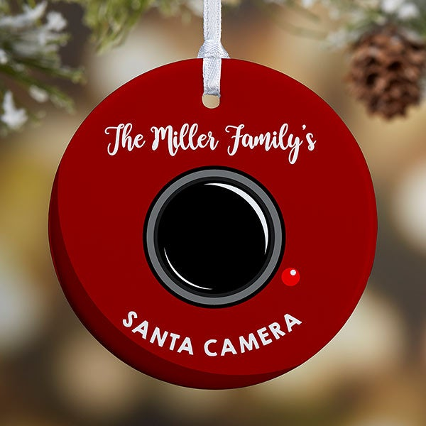 Personalized Santa Cam Ornaments - 19505 - Custom Santa Camera Christmas Ornament - Christmas Clearance