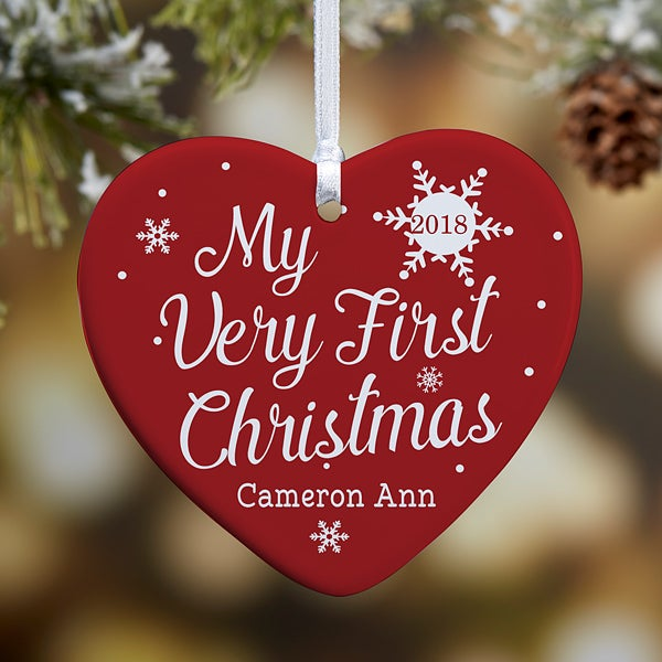 My Very First Christmas Personalized Baby Ornament- 3.25