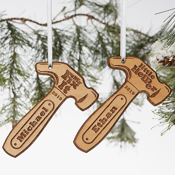 Engraved Wood Ornaments - Mr. Fix-It Hammer - 19562