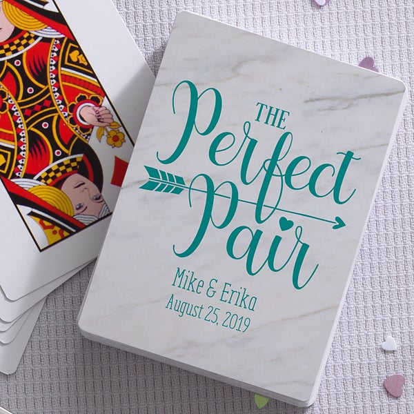 Personalized Playing Cards Wedding Favors   Wedding Pun