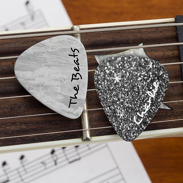 Personalized Guitar Picks - Textured - 19575