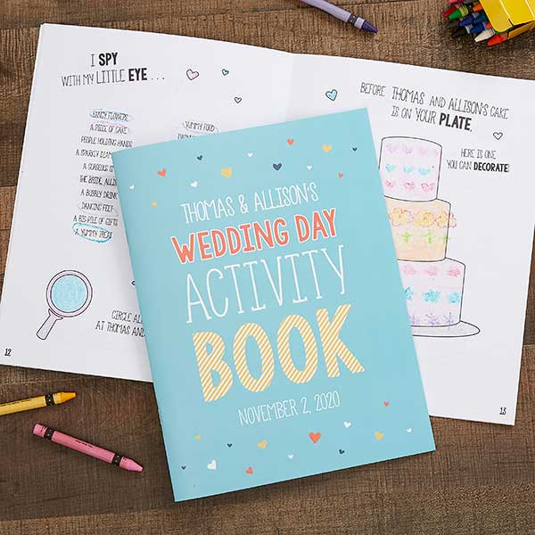 - Wedding Day Personalized Coloring Activity Book
