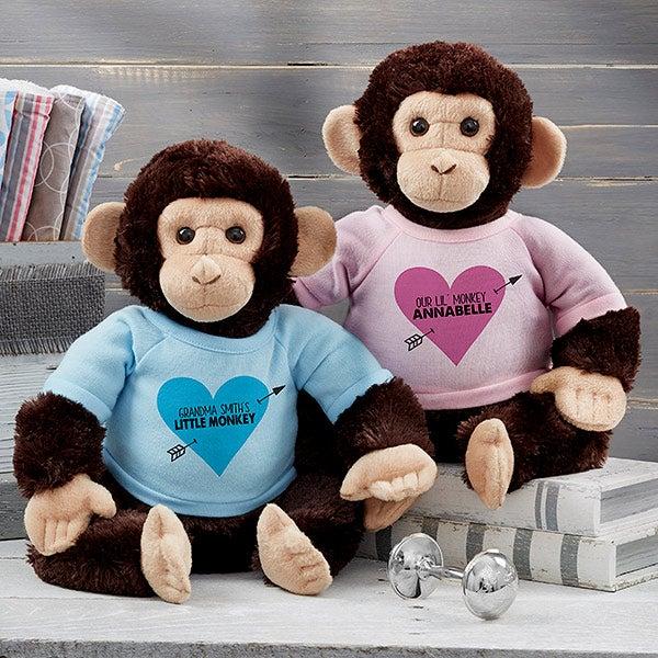 Personalized Stuffed Animals - Plus Monkey - 19586