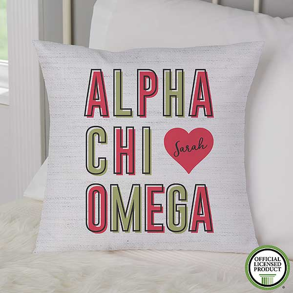 Alpha Chi Omega Personalized Sorority Pillows - 19600