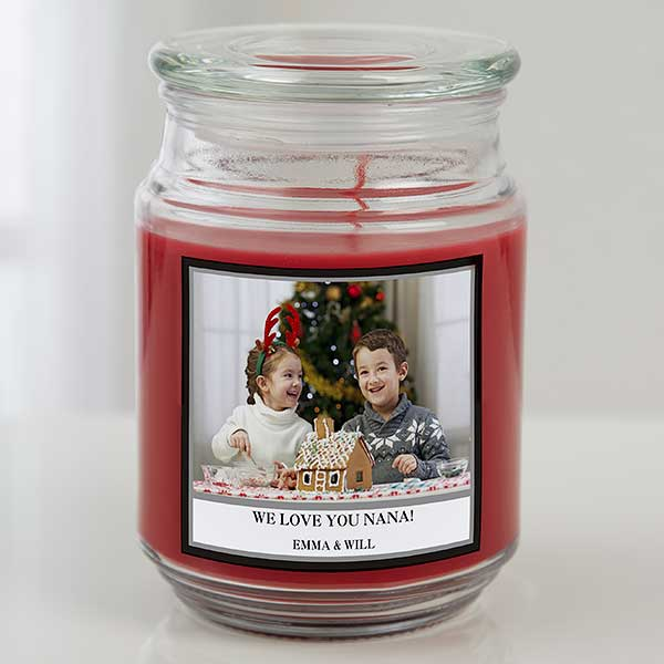Personalized Photo Candles - Picture Perfect Holiday - 19648