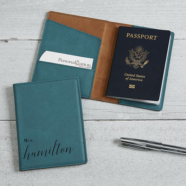 Personalized Passport Holders - Wedded Bliss - 19652